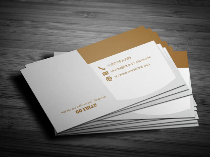 Free Cafe Business Card Template