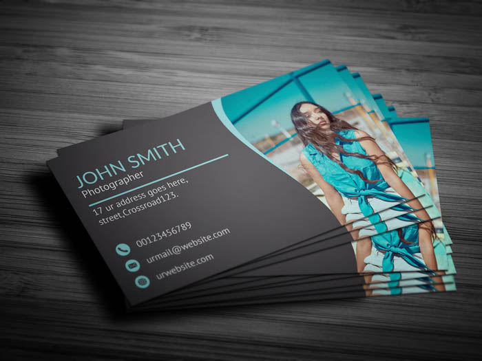 Free Cool Photographer Business Card Template