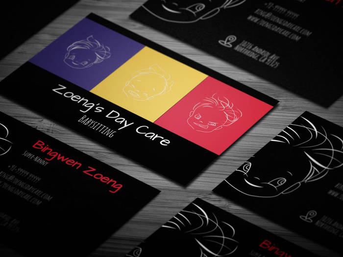 Free Colorful Babysitting Business Card Template