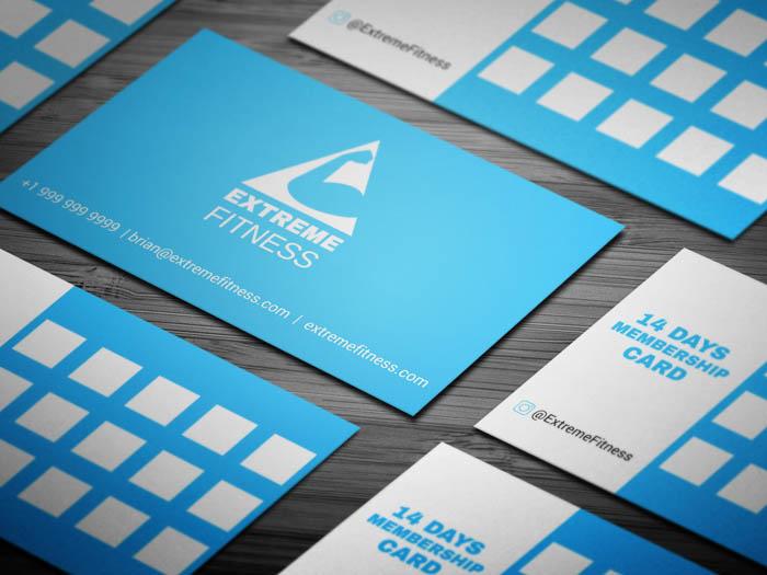 Free Fitness Club Membership Business Card Template