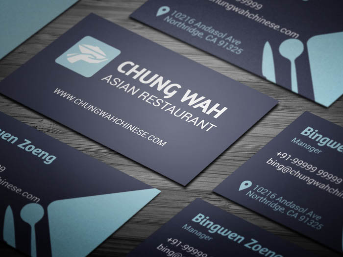 Free Dining Restaurant Business Card Template