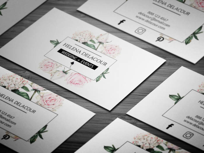 Free Event Planner Business Card Template