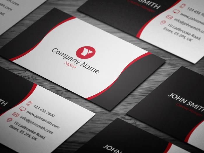 Free Sleek Web Designer Business Card Template