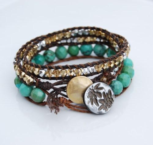 Beaded Wrap Bracelet – Waxed Irish Linen Tutorial
