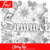 Free Printable Summer Coloring Page - Make Breaks