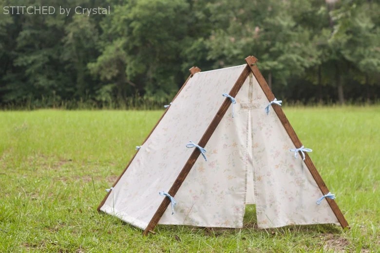 Collapsible Fabric Play Tentfor kids! Make It and Love It