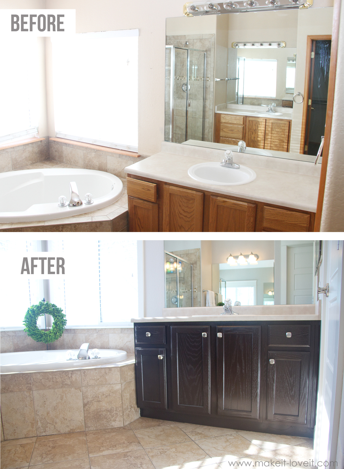 Java Stained Kitchen Cabinets How To Stain Oak Cabinets...the Simple Method (without