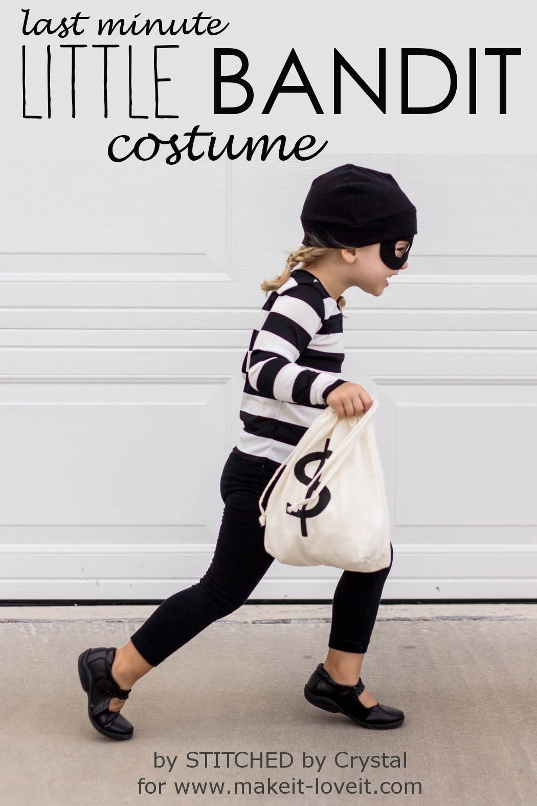 Diy Bank Robber Shirt Last Minute Little Bandit Costume Make It And Love It