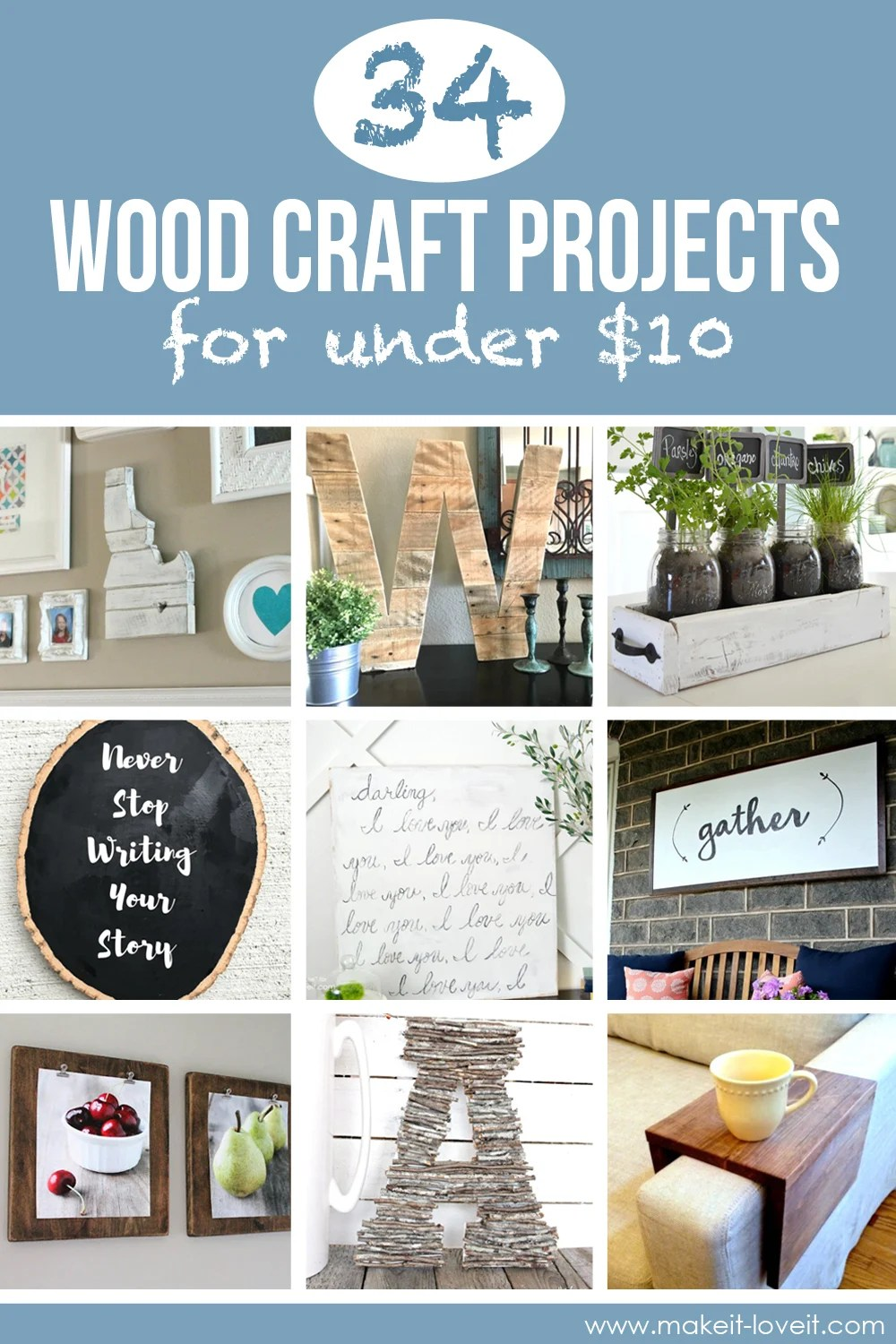34 Wood Craft Projects For Under 10 Great For Craft Night Make It And Love It