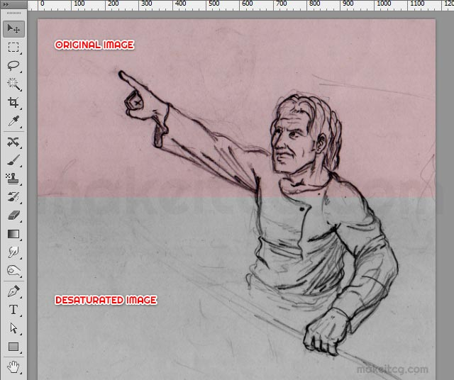 How to Remove Background from a Sketch in Photoshop - background sketches