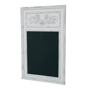 Antique White Finish Wooden Blackboard - dotcomgiftshop
