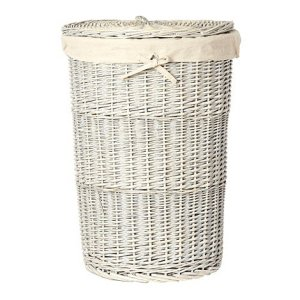 Jasper Conran Grey Wicker Laundry Hamper - Debenhams