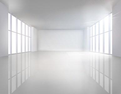 Illuminated interior. Vector illustration.