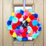 Pom-Pom Wreath Craft Tutorial