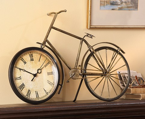 Antique bicycle clock the original gift company