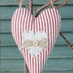 Fabric Heart Home Decoration