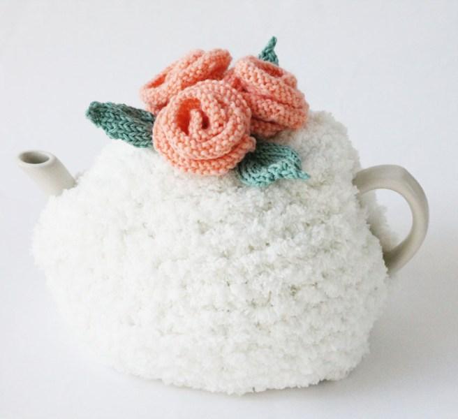 Flower tea cosy knitting pattern