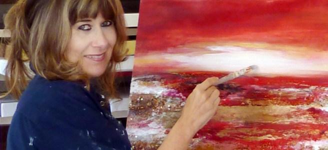 Louise Brooks Artist at work Portrait