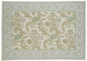 baroque traditional duck egg cotton and wool rug - laura ashley