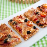 Vegetarian Oat Pizza Slice