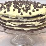 Chocolate Cookie Layer Cheesecake