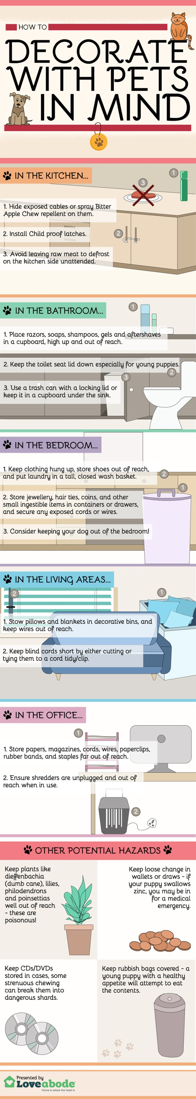 Love Abode - Decorating With A Pet In Mind - Infographic (1)