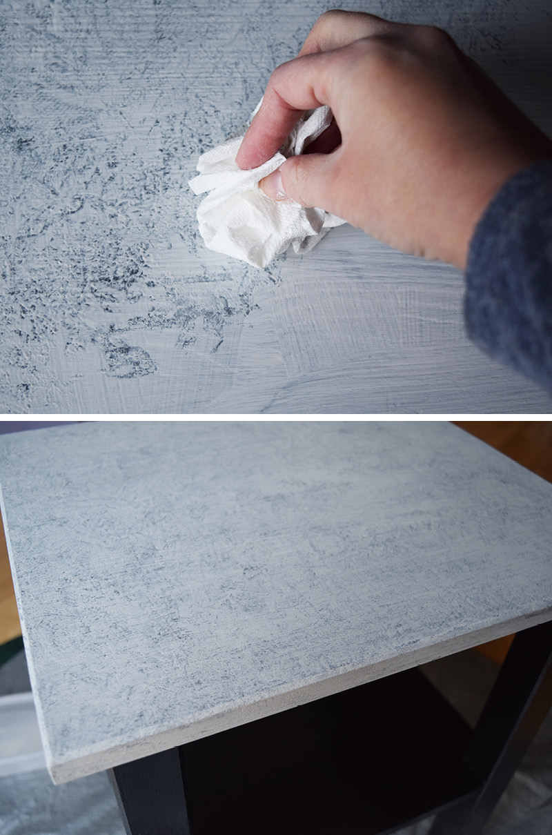 How To Make A Faux Marble Table
