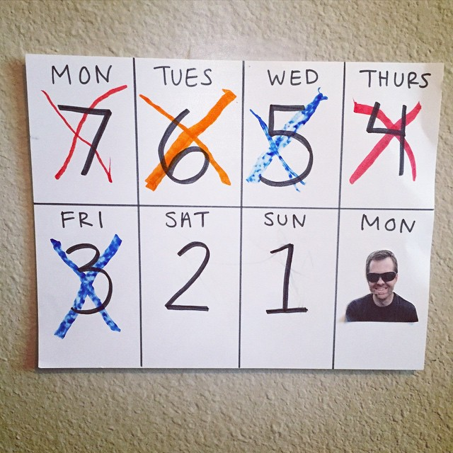 Countdown Calendar for Out-of-Town Parents