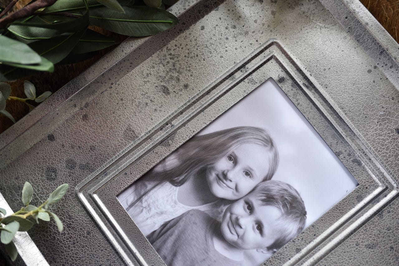 Diy Picture Frame With Glass Mercury Glass Frame Thrift Store Makeover Make Life Lovely