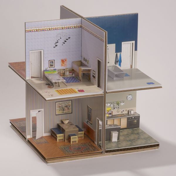 Pop-up Paper House printable template or boxed kit