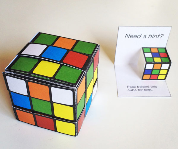 Printable Easy Paper Rubik\u0027s Cube DIY template to download