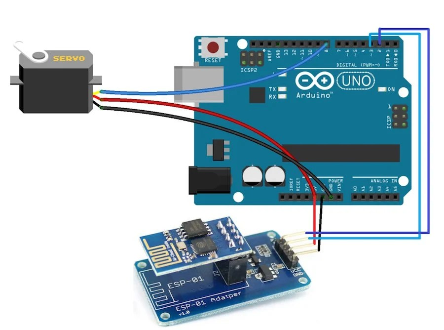 How to Make a Web-Controlled Servo With Arduino and ESP8266