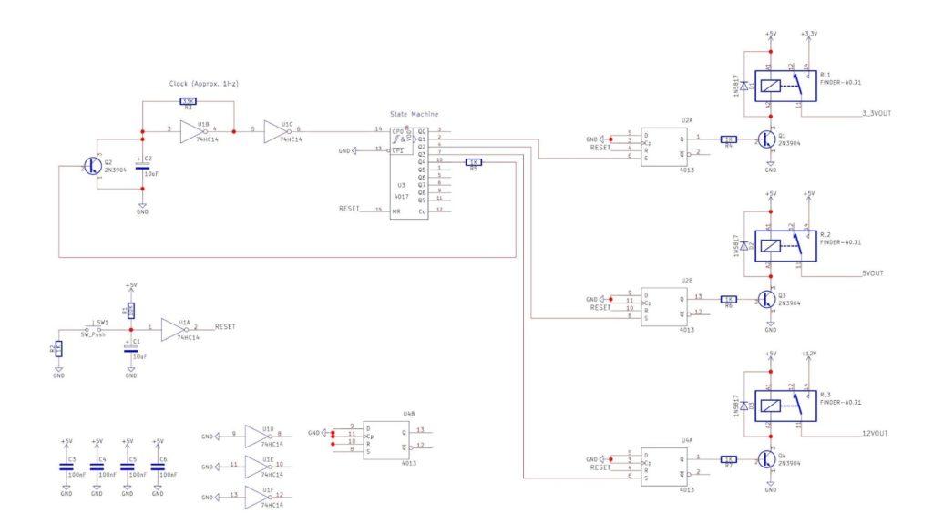 cable lan tester circuit
