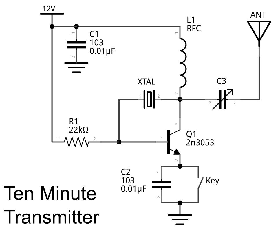 am transmitter circuit schematic diagram
