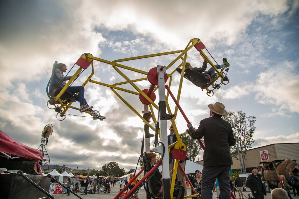 Cool dad projects: backyard carnival rides.