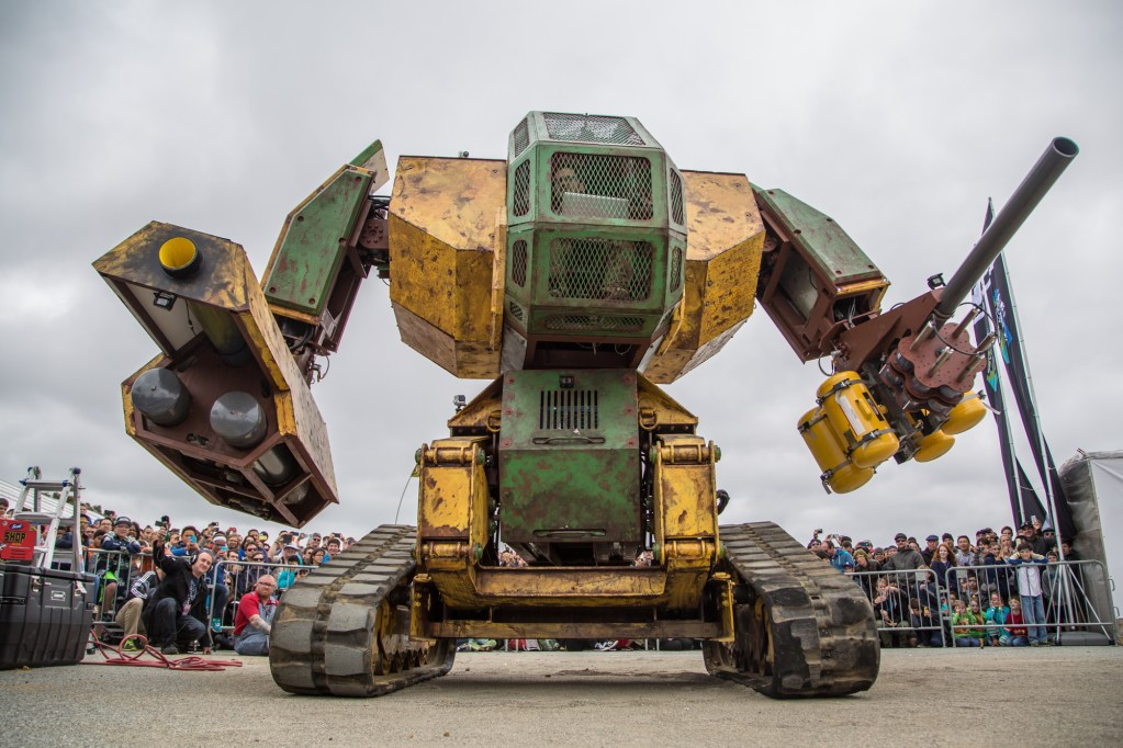 He's big, he's bad, he shoots paintball cannons. Don't mess with MegaBot.