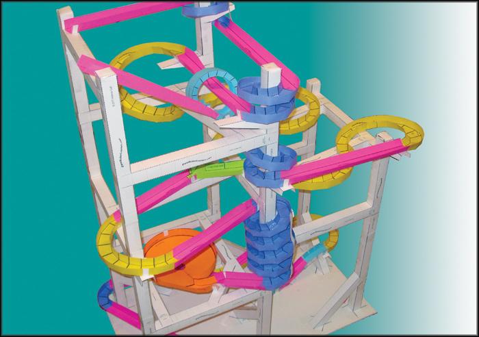 Maker Faire Paper Roller Coasters