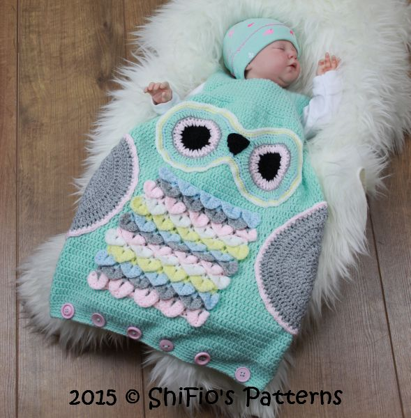 Baby Sleep Sack Uk Cp327 Owl Baby Sleeping Bag Sack In 3 Sizes Crochet