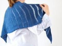 "Tunisian Crochet pattern Triangle Shawl ""Schneberg"""