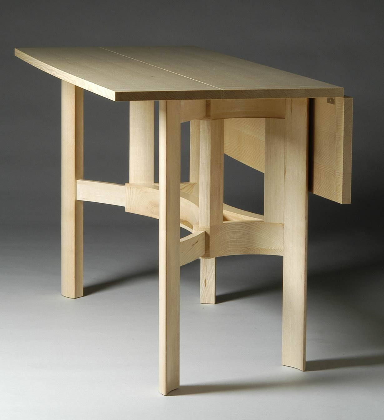 Drop Leaf Table Bespoke Drop-leaf Dining Table In Ash By Furniture