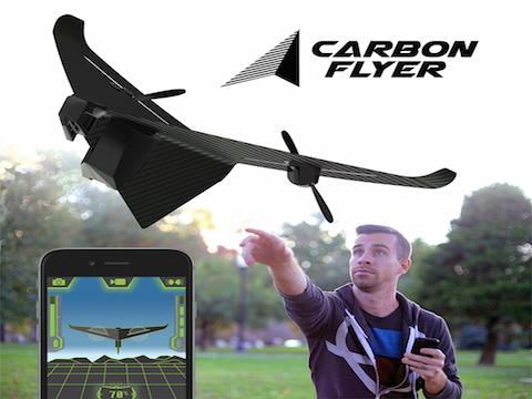 CARBON FLYER IL DRONE ULTRA-VELOCE IN FIBRA DI CARBONIO SUPER-RESISTENTE CHE SI CONTROLLA DA SMARTPHONE CON TILT CONTROLL