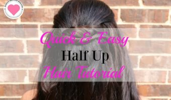 Quick and Easy Half Up Hairstyle Tutorial