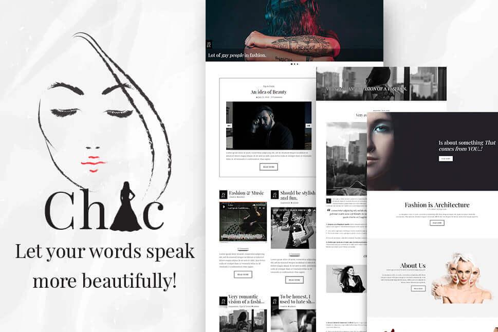 Chic A Fully Responsive Fashion Blog Wordpress Theme