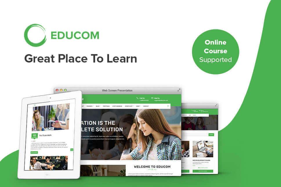 Education WordPress Theme- Educom Fully Responsive  Customizable