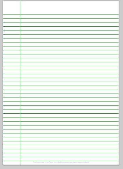custom college ruled paper - Print College Ruled Paper