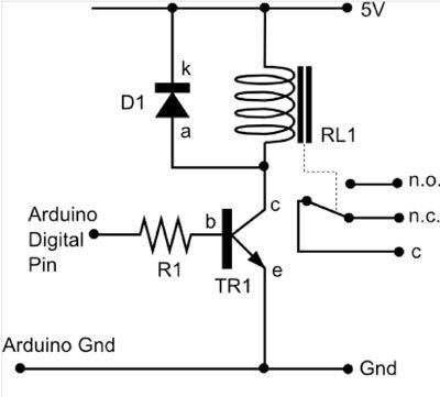 12v relay bedradings schema