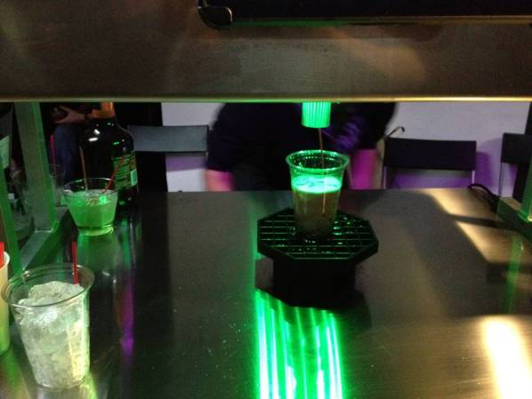 Bartendro dispensing