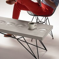 Brandon Gore Coffee Saucer Concrete Table