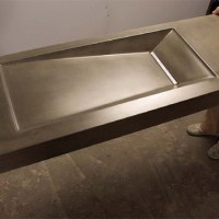 GFRC countertop with integral sink by Brandon Gore