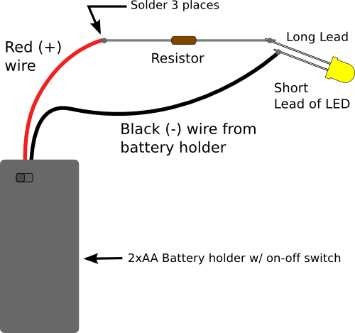 basic switch wiring using 9v battery